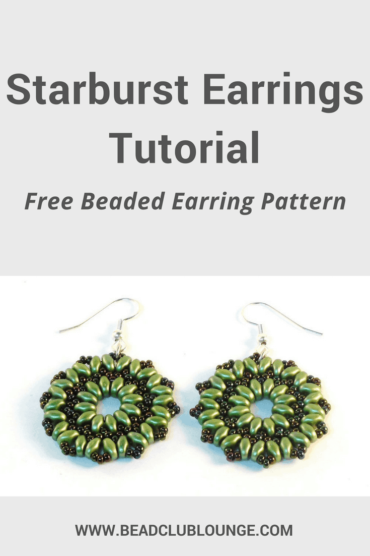 Want to DIY your own jewelry? Try these simple but elegant beaded earrings using SuperDuo beads and seed beads. Click here for an easy step-by-step tutorial that will show you how to make this design called the Starburst Earrings.
