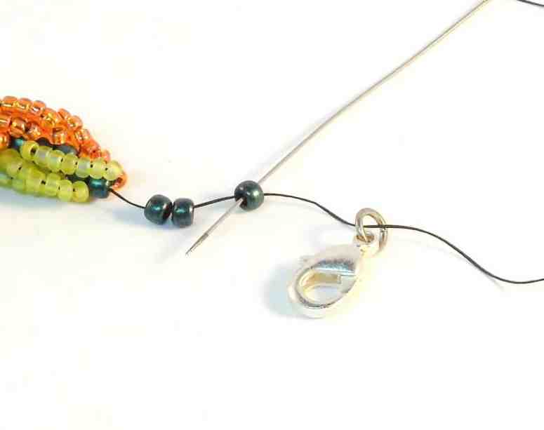 Step 8 of How To Make Double Spiral Rope Jewelry- Free Beading Pattern