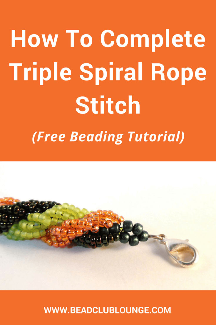 Try this free Triple Spiral Rope tutorial to create your own beaded jewelry like bracelets or necklaces. This beading pattern is great for beginners. #beading #beadwork #jewelrymaking #jewelrytutorial #tutorials #patterns