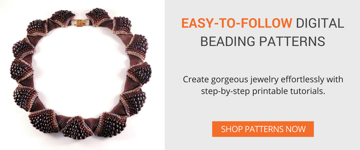 Shop easy-to-follow step-by-step digital beading patterns from The Bead Club Lounge.