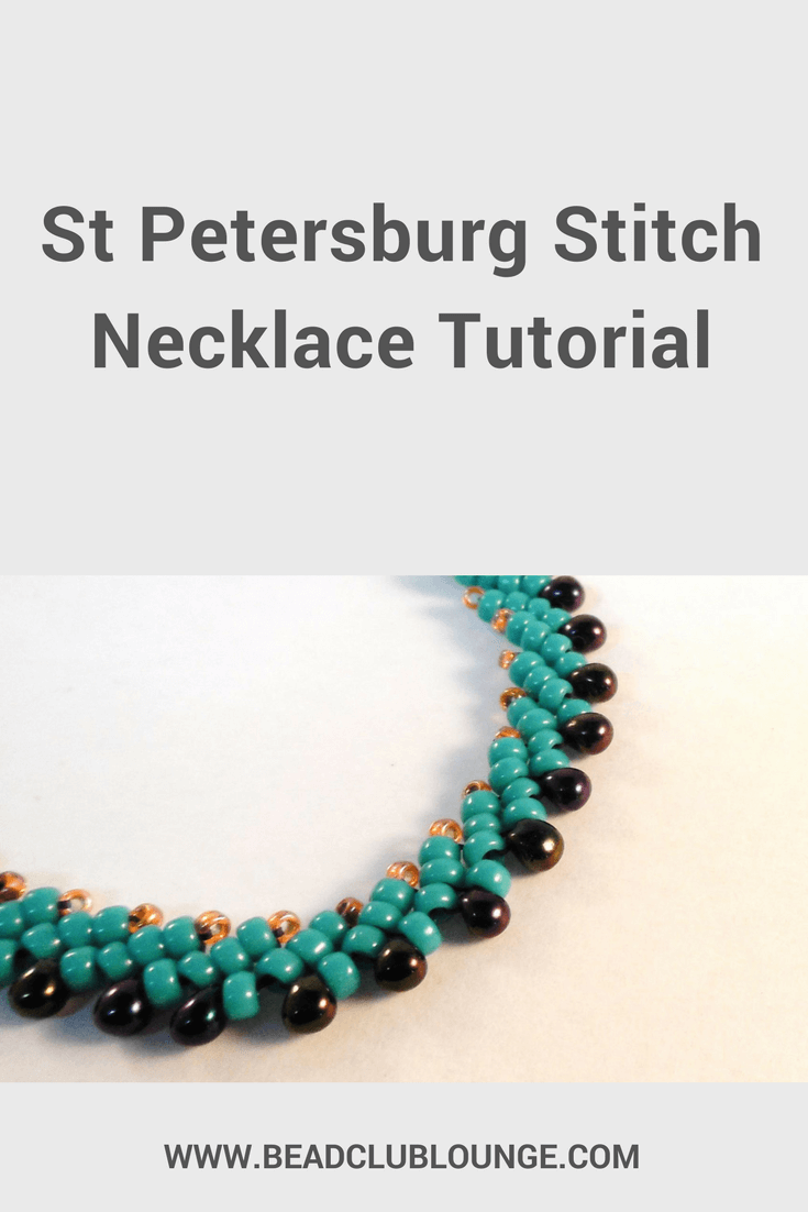 A Simple St. Petersburg Stitch Necklace Tutorial - The Bead Club ...
