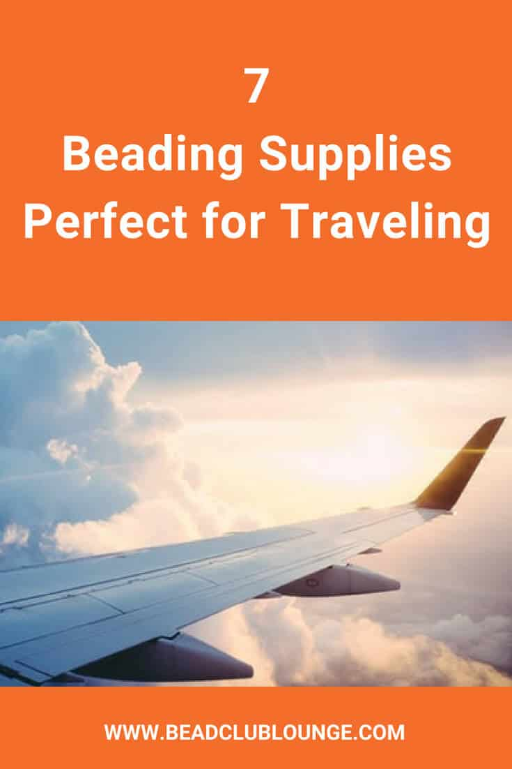 Planning to keep your hands busy and have some fun bead stitching while traveling? Well, there are some beading supplies that can make beading much more convenient when you're on a trip. Here's a simple list of products you need to complete bead weaving projects like beaded necklaces, bracelets and earrings on a plane. #beading #beadwork #beadweaving #beadstitching #thebeadclublounge