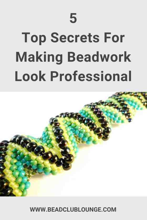 Beaded bracelet - Making beadwork look professional