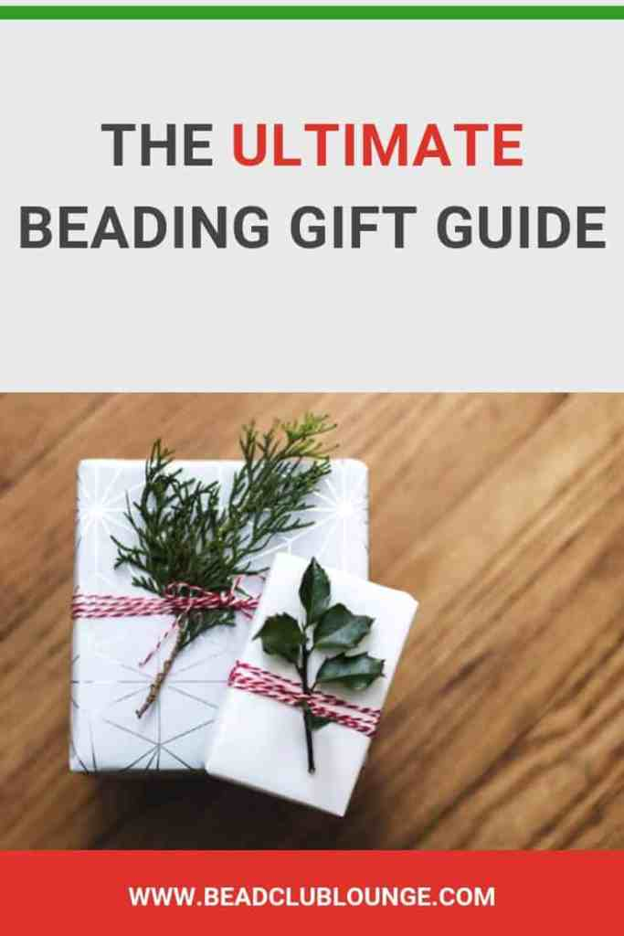 Here's the ultimate list of Christmas gift ideas for jewelry makers. If you know someone who loves beading, bead weaving and jewelry making, this is the gift guide for you. #christmas #gifts #giftguide #giftgiving #beads #jewelrymaking #TheBeadClubLounge