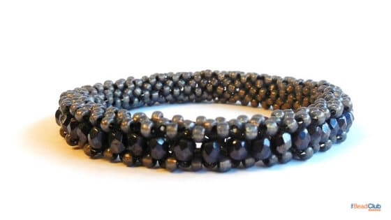 Tubular Right Angle Weave Bracelet by The Bead Club Lounge
