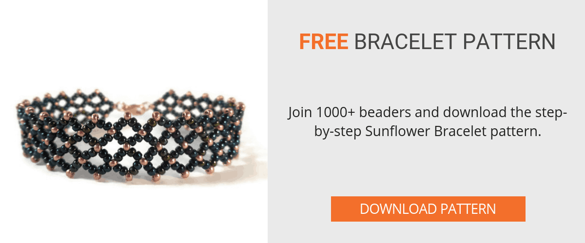 Download the free Sunflower Bracelet Pattern - The Bead Club Lounge