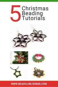 Want some DIY jewelry making Christmas beading tutorials? Try one of these simple, step-by-step beading pattern from The Bead Club Lounge. There are snowflake patterns for beginners and you can even learn how to make a beaded star. Enjoy these projects for the holidays to make gifts for others or use as handmade Christmas decorations. #christmas #beadingpatterns #beadingtutorials #beading #handmadejewelry