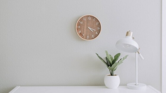 Wall clock - Start making jewelry gifts early.