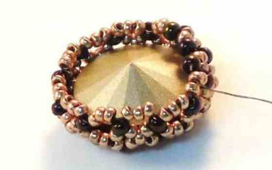 10 Free, Stunning Beaded Bezel Patterns For You To Make