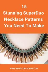 Here's is a list of beautiful necklace patterns on Etsy. You'll find beading tutorials fit for beginners and more advanced beaders. If you love bead stitching, you don't want to miss out on these must-have DIY jewelry patterns using SuperDuo beads. #beading #jewelrymaking #jewelrytutorial