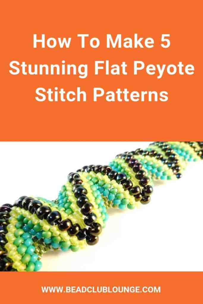 Discover 5 free stunning flat peyote stitch patterns including beaded rings and bracelets. They cover a range of techniques like 3-drop peyote stitch and odd count peyote, as well as flat even count peyote tutorials. #peyotestitch #beading #freepattern
