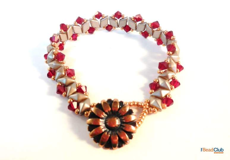 How To Make The Beautiful Crystal Bling Bracelet - Step 13