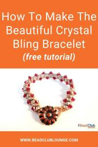 Use DiamonDuo beads to create the simple yet stunning beaded bracelet. A beautiful button clasp is the focal point of this beadwoven piece of jewelry. #beading #tbcl
