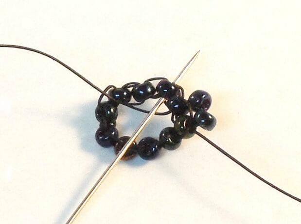 Dark Bloom Earrings Pattern - Step 4