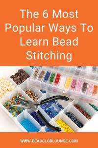 Do you want to master off-loom bead weaving techniques? Discover the best ways to learn this jewelry-making skill whether you're a beginner or not. For example, beading tutorials, whether free or paid, are a fun way to DIY jewelry for yourself or to give as gifts. #beading #tbcl