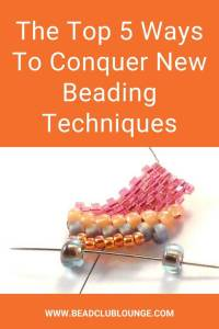 Do you want to learn new beading techniques? Here are five simple tips for learning how to make jewelry using bead stitching, whether it's Peyote Stitch or Right Angle Weave. #beading #tbcl