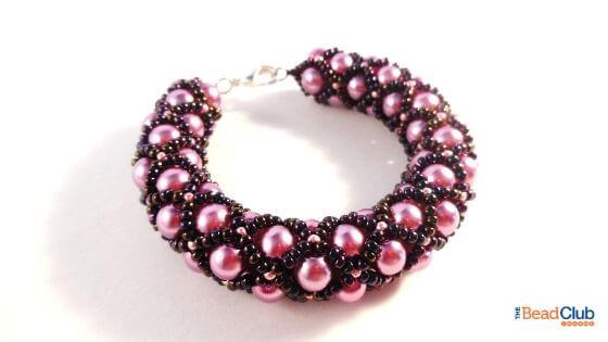 Filled Tubular Netting Stitch Bracelet by The Bead Club Lounge