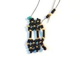 Step 14 - Netting Stitch bracelet pattern