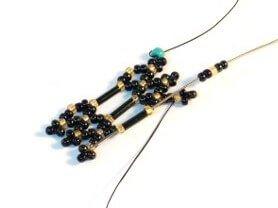 Step 15 - free beaded bracelet pattern