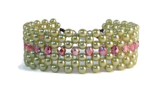 Right Angle Weave Bracelet by The Bead Club Lounge