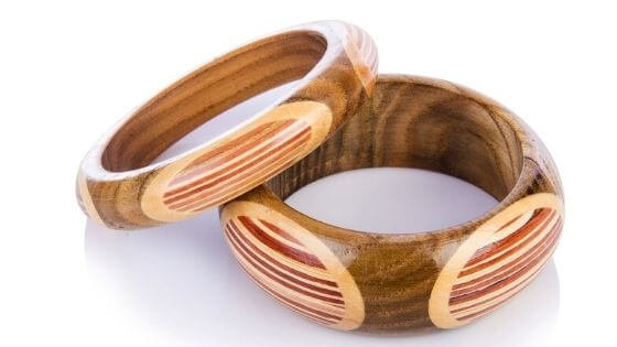 Two wooden bangles - types of bracelets