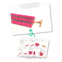 Peyote Stitch Bracelet Pattern for beginners
