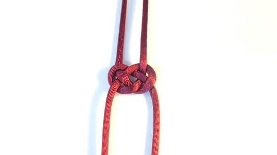Here's the Pretzel knot, otherwise known as the Josephine knot.