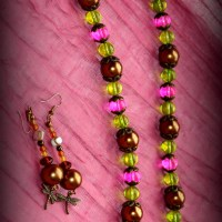 """SERENITY"" DRAGONFLY NECKLACE & EARRING SET"