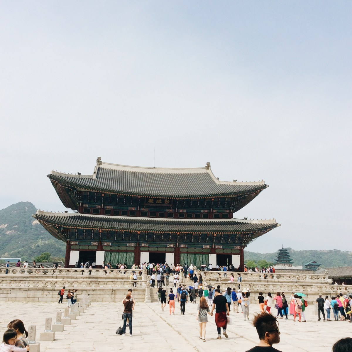 The throne hall of Gyeongbokgung Palace Seoul