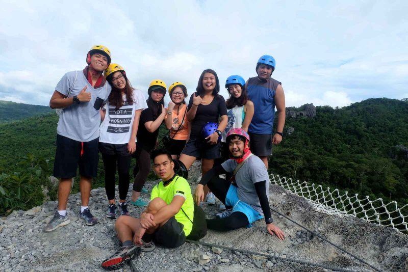our travel group on top of ditse in masungi georeserve