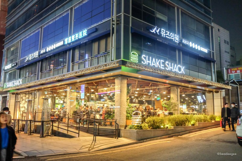Shake Shack store in Gangnam for your Seoul DIY Itinerary