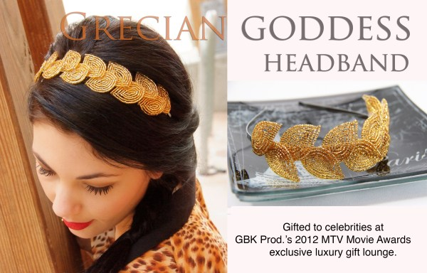 PATTERN- Grecian Goddess headband pattern and tutorial