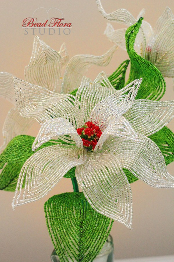 French beaded silver poinsettia pdf