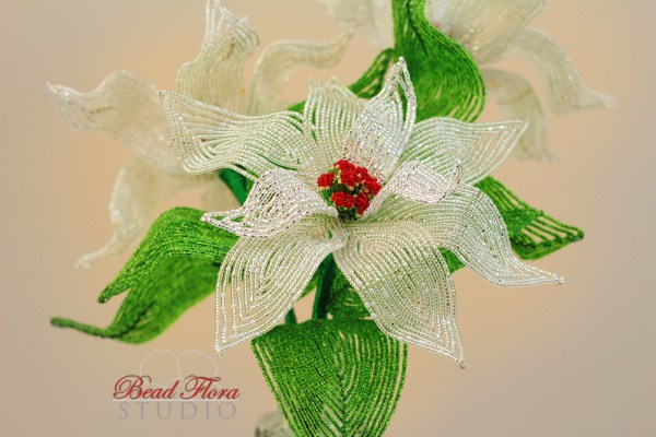 French beaded silver poinsettia pdf automatic download