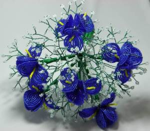 French Beaded Iris Bouquet
