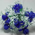 French Beaded Iris Bouquet