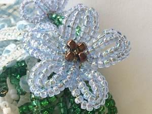 Healing beads! My first flower, Katie Dean, Beadflowers