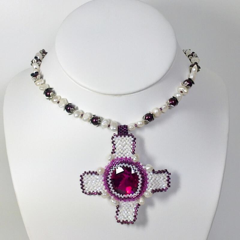 Tudor Necklace Patter, Katie Dean, Beadflowers