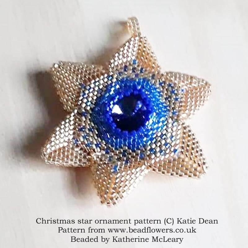 Beaded Christmas Star Ornament