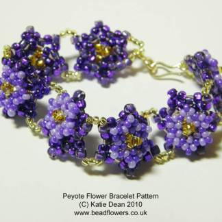 Peyote Flower Bracelet Pattern