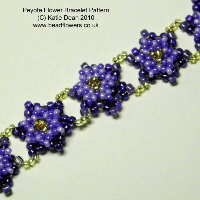 Peyote Flower Bracelet Pattern