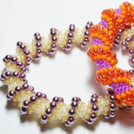 Cellini Spiral Bangle Pattern, Katie Dean, Beadflowers