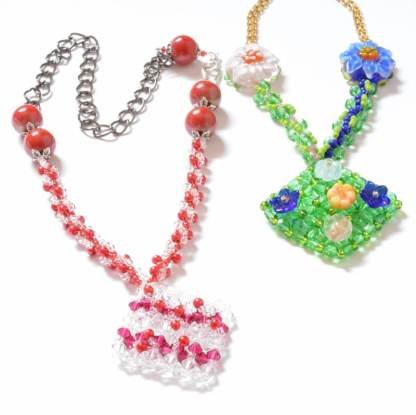 Embellished Right Angle Weave Necklace Pattern, Katie Dean, Beadflowers
