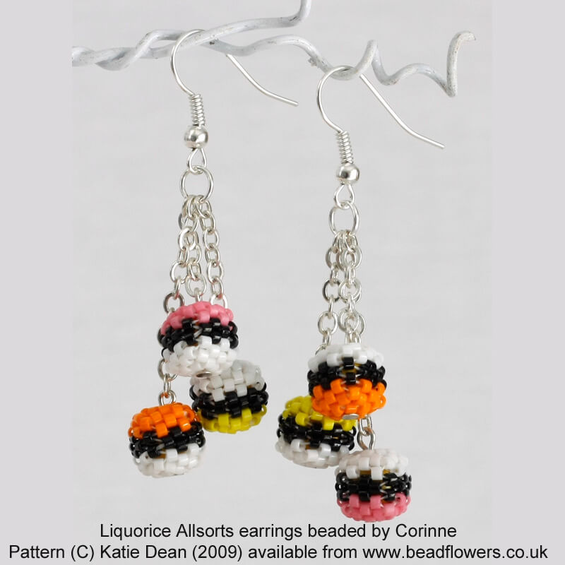 Liquorice Allsorts Beaded by Corinne