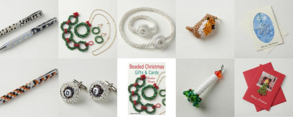 Beaded Christmas Gift and Cards Ebook, Katie Dean, Beadflowers