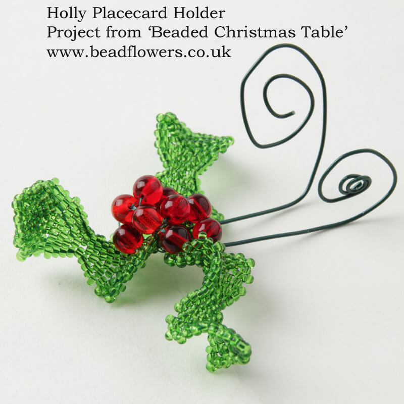 Beaded Christmas Table, Katie Dean, Beadflowers