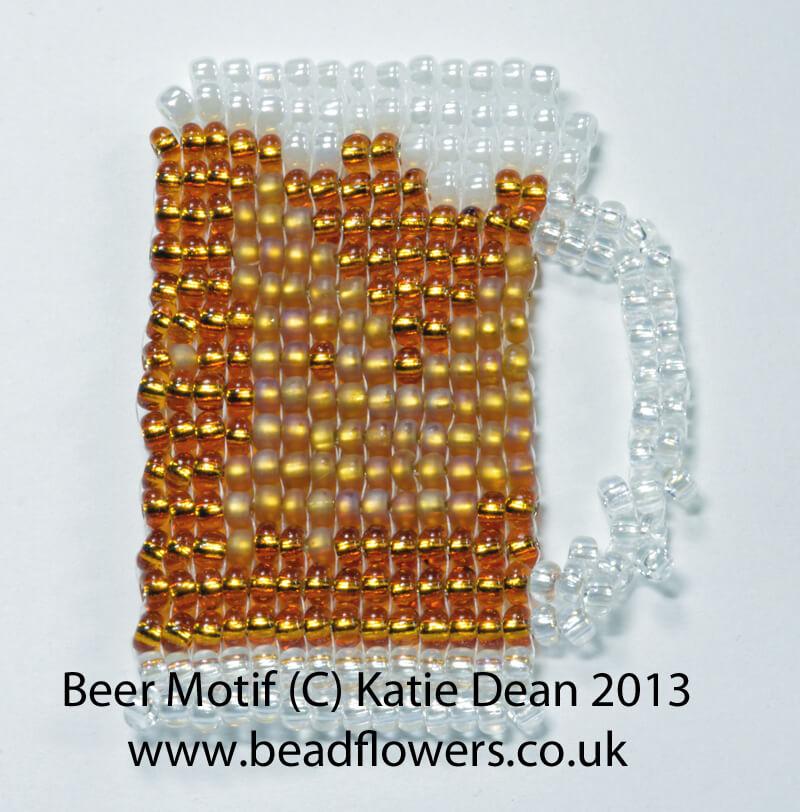 Keepsake card motif - beer pattern, Katie Dean, Beadflowers