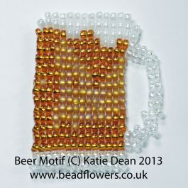 Keepsake card motif - beer pattern, Katie Dean, Beadflowers