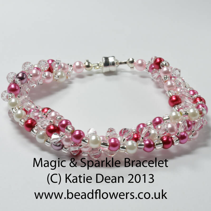 Magic Sparkle Bracelet pattern by Katie Dean, Beadflowers