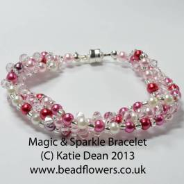 Magic Sparkle Bracelet pattern by Katie Dean, Beadflowers